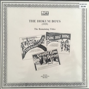 The Hokum Boys ‎– (1929) The Remaining Titles