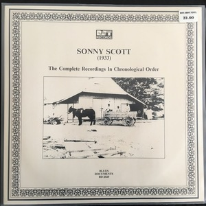 Sonny Scott ‎– (1933) The Complete Recordings In Chronological Order